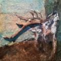 Deer - mixed media/collage challenge