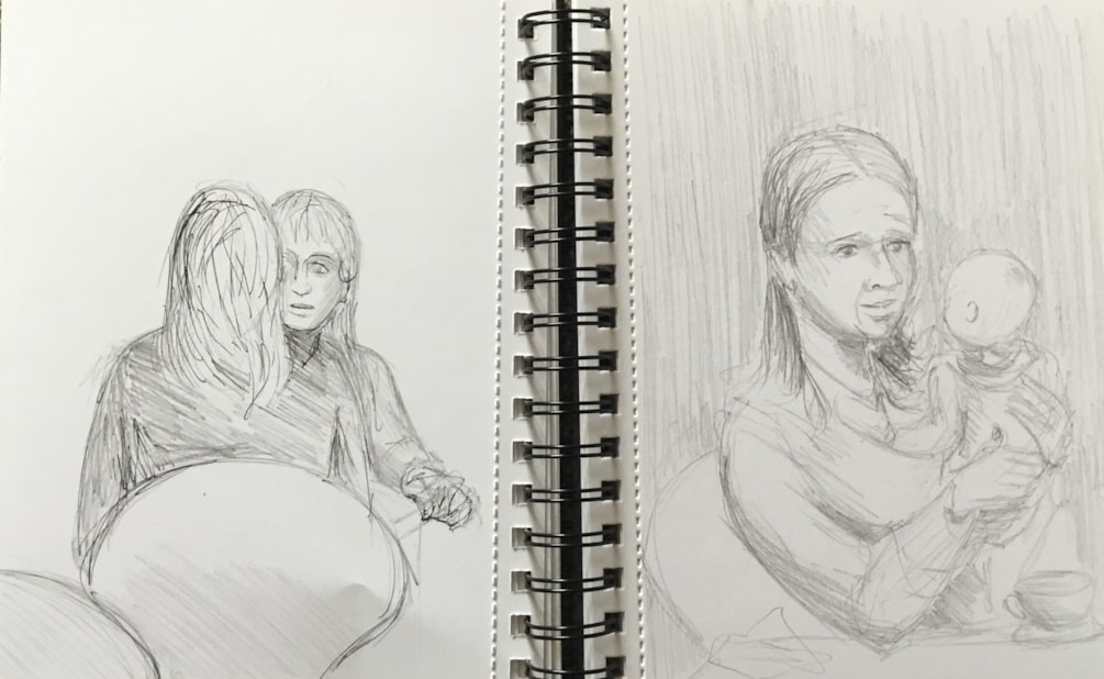 Sketching in the cafe 4