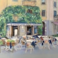 Waiting for customers. pastel on Colourfix