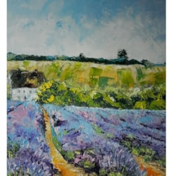 Snowshill Lavender, Acrylic, Sold ©