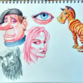 Inktense Pencils Try-out- A3 sketchbook