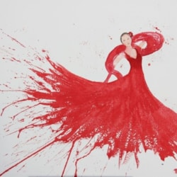 Flamenco with Red Shawl