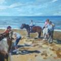 Pony rides at Hunstanton beach