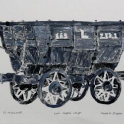 Coal Hopper Wagon - Beamish Museum - Monoprint