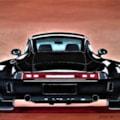Big, black Porsche 911