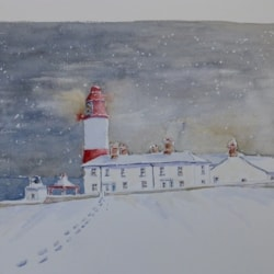Souter Lighthouse in the Snow