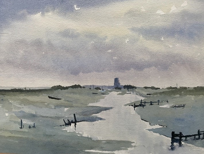 Blakeney Church from Morston Quay (after Wesson)