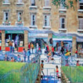 Busy street in Bath
