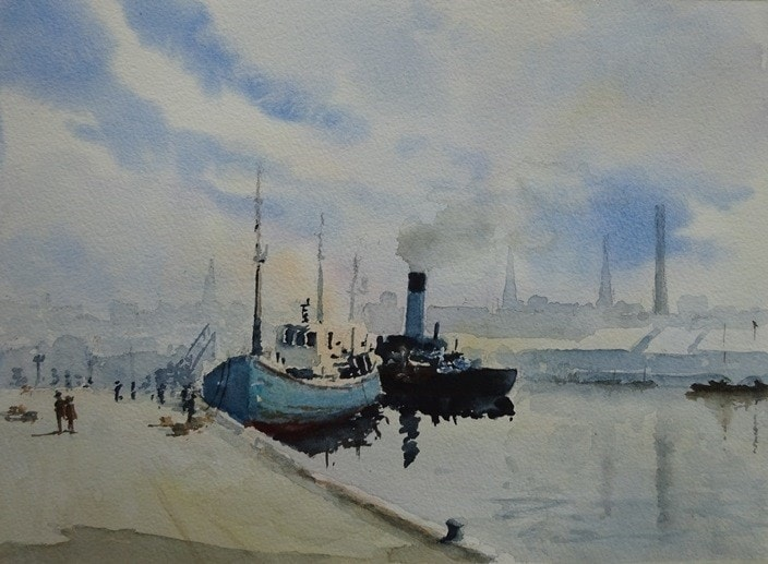 Aberdeen Harbour (after the late Edward Wesson)