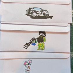 3 envelopes