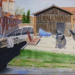 Boatyard in Venice.