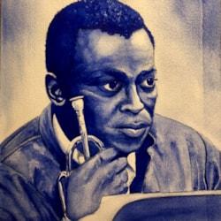 A Pensive Miles Davis