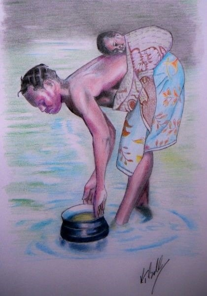 Fetching the water