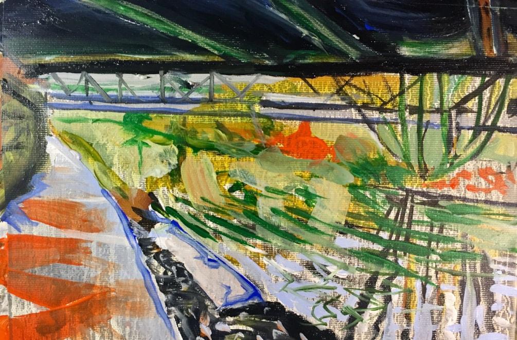 Stockton Brook. Acrylic on 25x18 cm canvas
