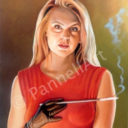 The Girl with Cigarette Holder