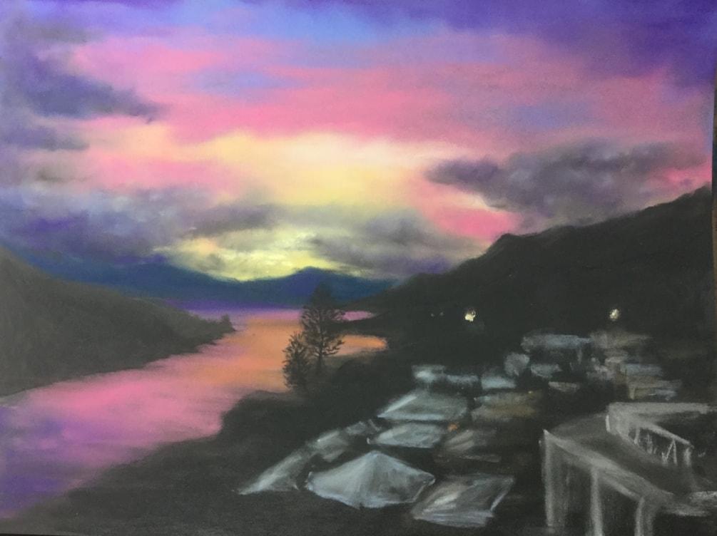 Queenstown, NZ. Sunset.
