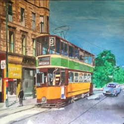 glasgow tram acrylic finished cropped
