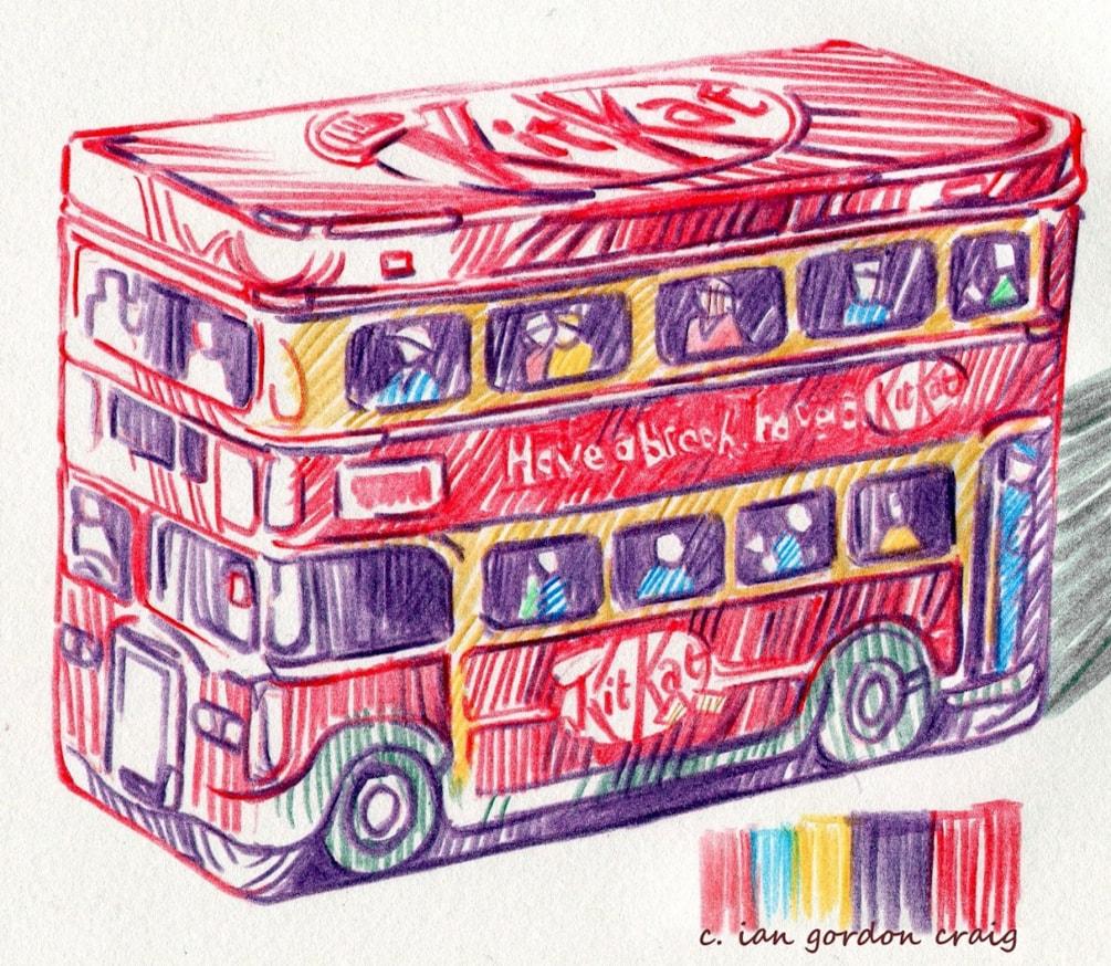 kit kat bus