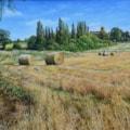large haybales