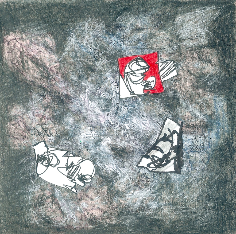 lcss-45_12x12cm_ink, pastel, pencil, graphite and marker on paper_14-4-19