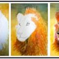 lion tripstych