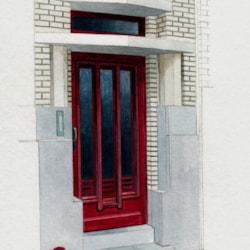 ostend doorway red copy