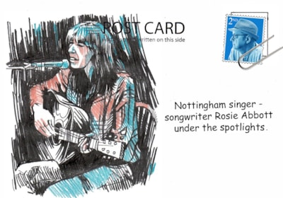 postcard musician