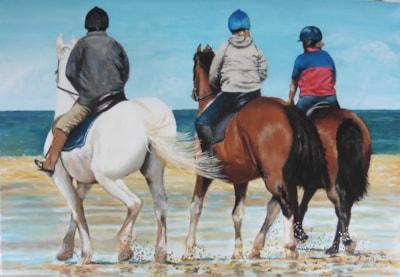 riding on Holkham beach