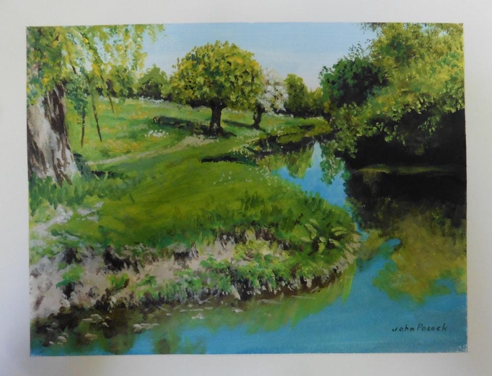 river bank at grantchester