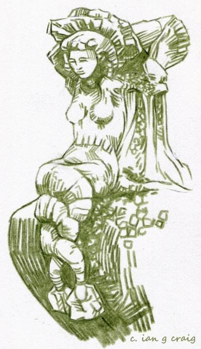 rufford abbey mermaid