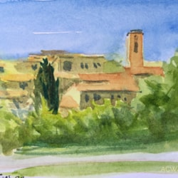 small ACWATERCOLORS - Plascassier Village, Provence 05.21