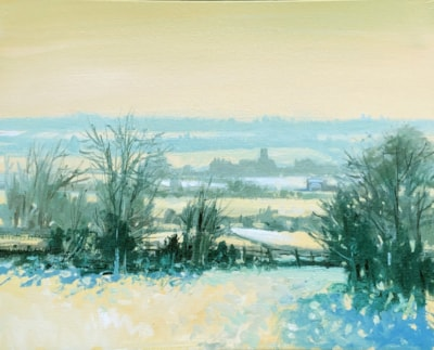 snow landscape ps