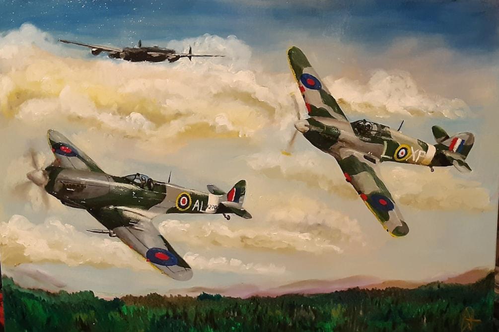 spitfire hurricane and Lanc