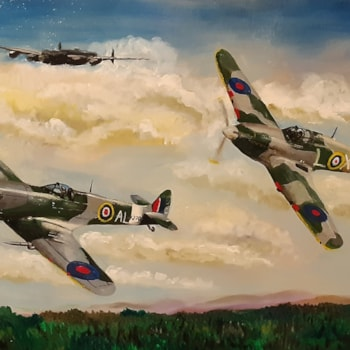 spitfire hurricane and Lanc