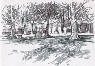st john's church churchyard carrington