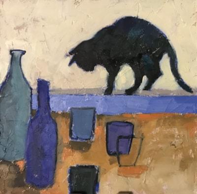 window sill cat