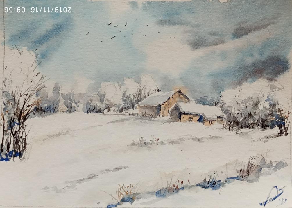 zimowy krajobraz