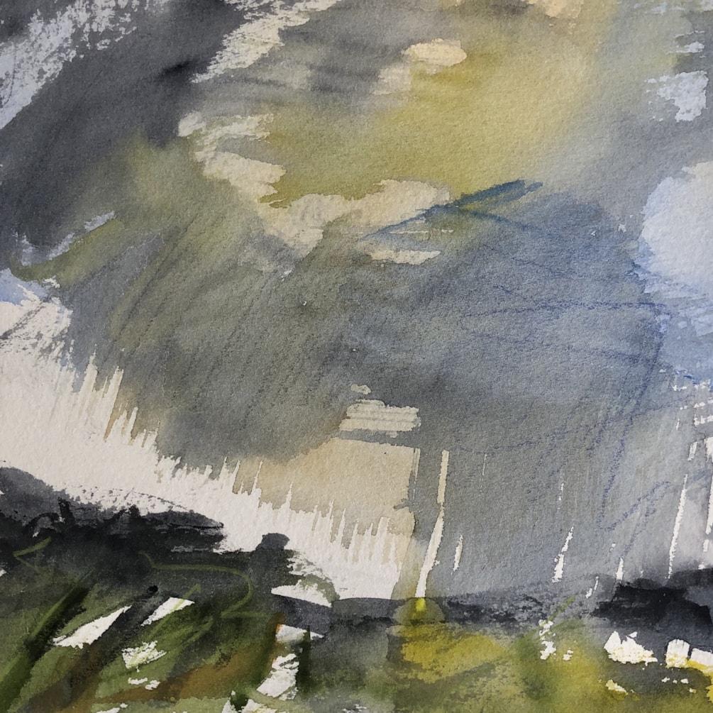 After The Rains Watercolour 24x24cm