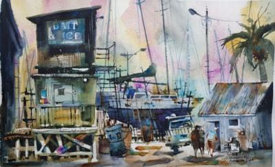 Amanda Brett Watercolour Artist Bit & Ice Thames NZ