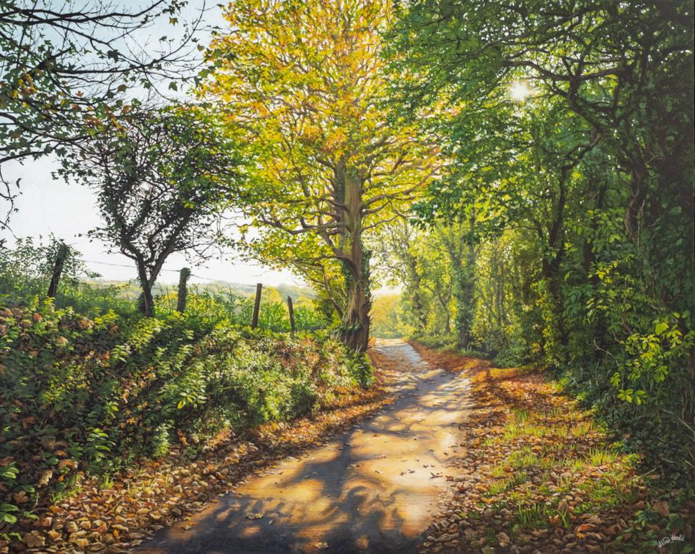 Autumn's Gentle Drift, Penrose Alice Hole