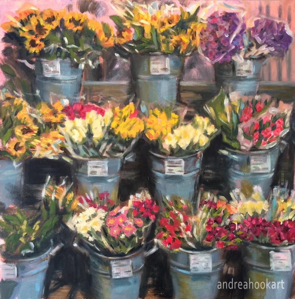 The Flower Stall - Andrea Hook