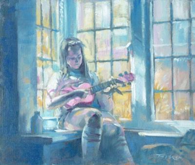 The pink ukulele