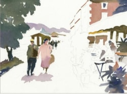 Adding figures to a painting