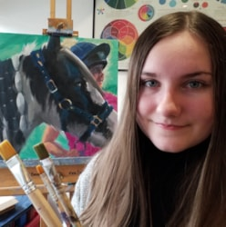 1. Niamh with her oil painting