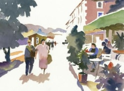 Figure painting in watercolour