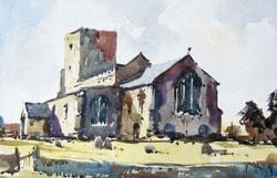 Painting Morston Church, Norfolk