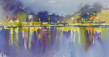 Mountainside nightlife by Wendy Jelbert