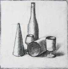 How to sketch a still life - stage 3