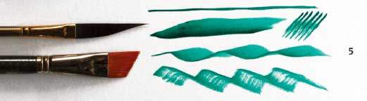 Sword liner acrylic brush