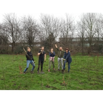 Artfinder team tree planting with Trees for Cities in 2019 in Beckton, London 1.20